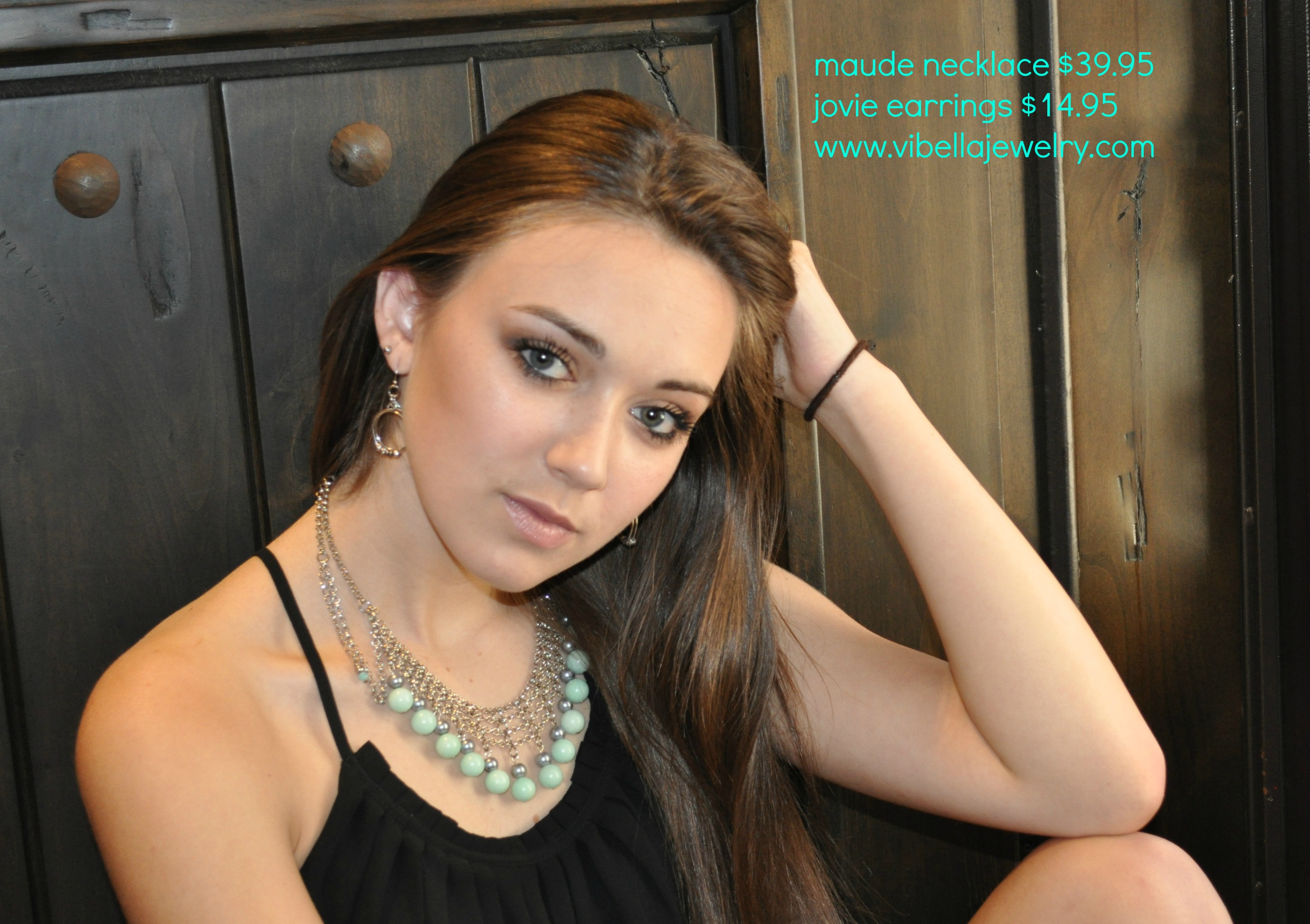 Maude Necklace | Jovie Earrings | Model Shot